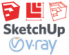 SketchUp Pro 2019 Subscription + V-Ray Next 12 Months